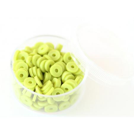 Acheter Boite de perles rondelles heishi 6 mm - vert anis - 1,99€ en ligne sur La Petite Epicerie - 100% Loisirs créatifs