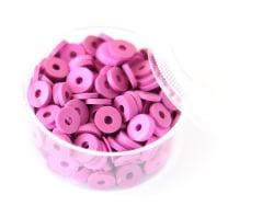 Acheter Boite de perles rondelles heishi 6 mm - orchidée - 1,99€ en ligne sur La Petite Epicerie - 100% Loisirs créatifs