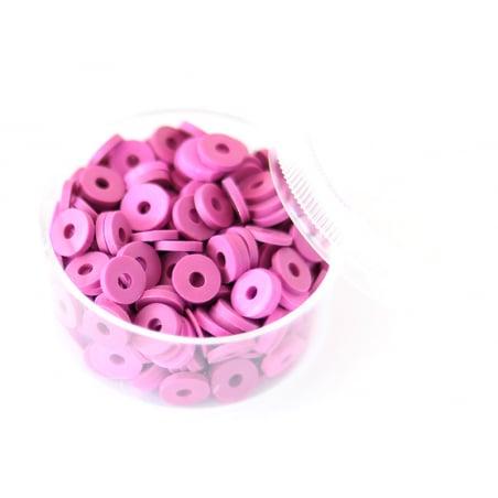 Acheter Boite de perles rondelles heishi 6 mm - orchidée - 1,99€ en ligne sur La Petite Epicerie - Loisirs créatifs
