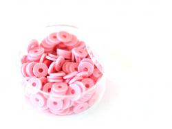 Acheter Boite de perles rondelles heishi 6 mm - rose - 1,99€ en ligne sur La Petite Epicerie - Loisirs créatifs