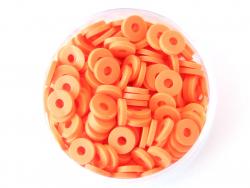 Acheter Boite de perles rondelles heishi 6 mm - orange - 1,99€ en ligne sur La Petite Epicerie - 100% Loisirs créatifs