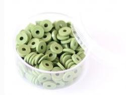 Acheter Boite de perles rondelles heishi 6 mm - vert kaki - 1,99€ en ligne sur La Petite Epicerie - Loisirs créatifs
