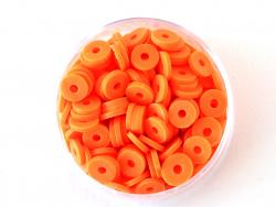 Acheter Boite de perles rondelles heishi 6 mm - orange fluo - 1,99€ en ligne sur La Petite Epicerie - Loisirs créatifs