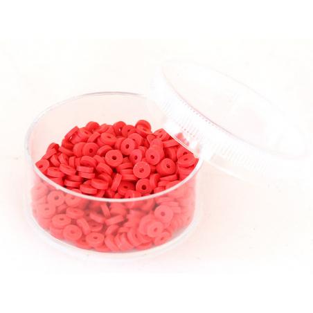 Acheter Boite de perles rondelles heishi 3 mm - rouge - 1,99€ en ligne sur La Petite Epicerie - Loisirs créatifs