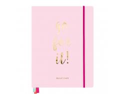 """Acheter Notebook pour bullet journal rose """"Go for it"""" - Rico Design - 27,99€ en ligne sur La Petite Epicerie - Loisirs créatifs"""