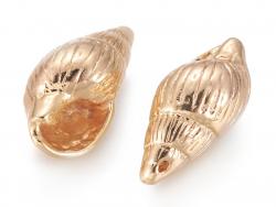 Acheter Pendentif coquillage spirale 18 mm - laiton plaqué or fin 18K - 2,39€ en ligne sur La Petite Epicerie - 100% Loisirs...