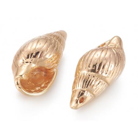 Acheter Pendentif coquillage spirale 18 mm - laiton plaqué or fin 18K - 2,39€ en ligne sur La Petite Epicerie - Loisirs créa...