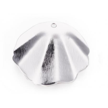 Acheter Pendentif coquillage 30 mm - laiton plaqué platine - 2,69€ en ligne sur La Petite Epicerie - 100% Loisirs créatifs