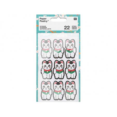 Acheter Lot de 4 planches de stickers autocollants - Chats porte bonheur - 3,69€ en ligne sur La Petite Epicerie - Loisirs c...