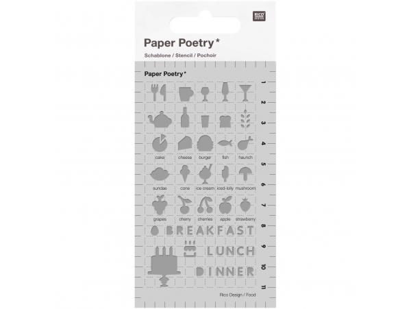Acheter Pochoirs d'écriture pour bullet journal - thème nourriture - Rico Design - 3,99€ en ligne sur La Petite Epicerie - L...