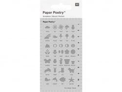 Acheter Pochoirs d'écriture pour bullet journal - thème météo - Rico Design - 3,99€ en ligne sur La Petite Epicerie - Loisir...