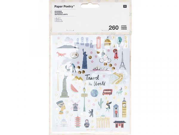 Acheter Lot de 4 planches de stickers autocollants - Travel the world - 4,79€ en ligne sur La Petite Epicerie - Loisirs créa...