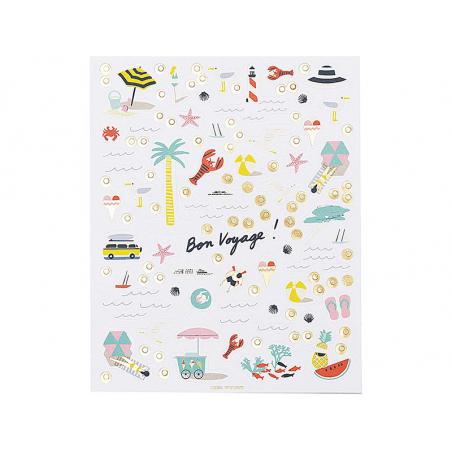 Acheter Lot de 4 planches de stickers autocollants - Bon voyage - 4,79€ en ligne sur La Petite Epicerie - 100% Loisirs créatifs
