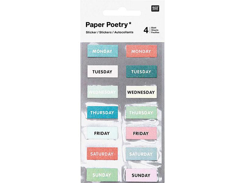 Acheter Lot de 4 planches de stickers autocollants - Jours colorés - 3,69€ en ligne sur La Petite Epicerie - Loisirs créatifs