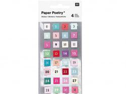 Acheter Lot de 4 planches de stickers autocollants - Chiffres - 3,69€ en ligne sur La Petite Epicerie - 100% Loisirs créatifs