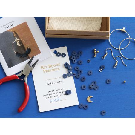 Acheter Boucles d'oreilles Sarah - Kit bijoux précieux dorés à l'or fin - 13,90€ en ligne sur La Petite Epicerie - 100% Lois...