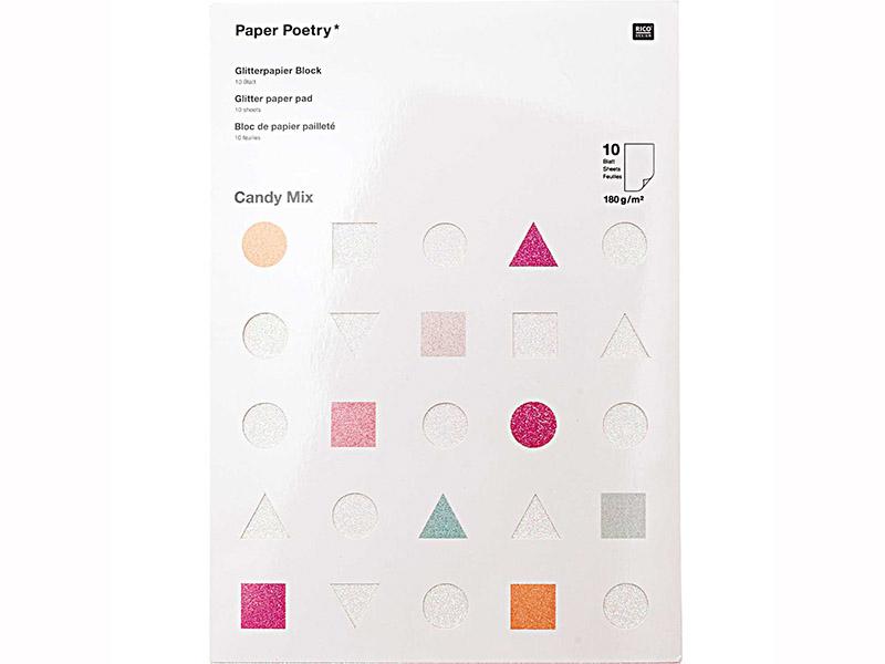 Acheter Bloc de papier A4 - Candy mix pailletés - 11,79€ en ligne sur La Petite Epicerie - 100% Loisirs créatifs