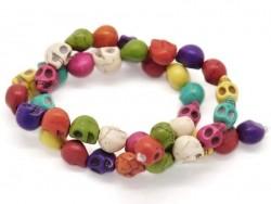 20 perles tête de mort Skulls / S