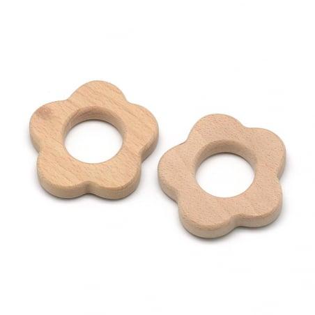 Acheter Accessoire pour hochet montessori / jouet de dentition en bois - Fleur - 2,39€ en ligne sur La Petite Epicerie - 100...