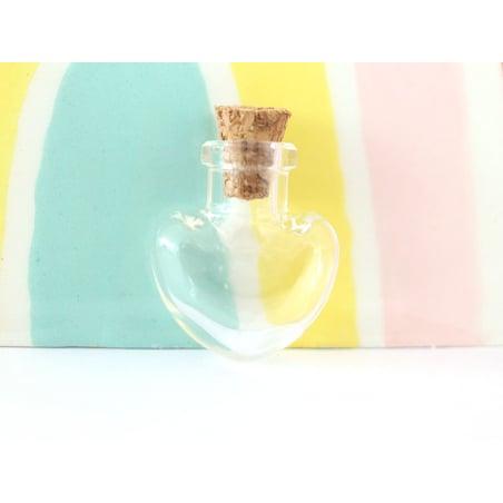 Acheter Fiole en verre coeur - 25 mm - 0,99€ en ligne sur La Petite Epicerie - Loisirs créatifs
