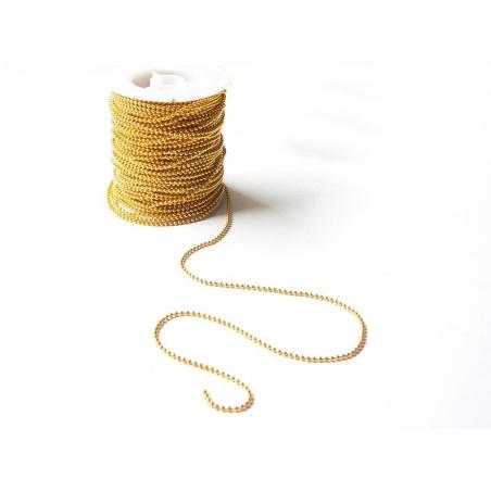 1m chaine bille dorée 2,4 mm  - 2