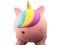 Acheter Maxi squishy Macaron Licorne rose - anti stress - 19,99€ en ligne sur La Petite Epicerie - Loisirs créatifs