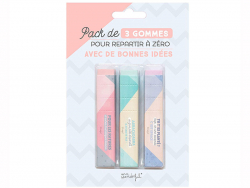 Acheter 3 gommes pastel Mr Wonderful - 7,89€ en ligne sur La Petite Epicerie - Loisirs créatifs