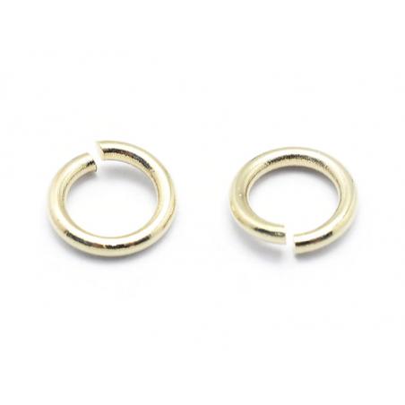 Acheter 20 anneaux 5 mm - plaqués or fin 18K - 1,19€ en ligne sur La Petite Epicerie - 100% Loisirs créatifs