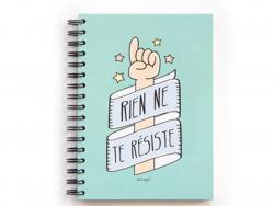 """Acheter Carnet Mr Wonderful - """"rien ne te résiste"""" - 9,89€ en ligne sur La Petite Epicerie - 100% Loisirs créatifs"""