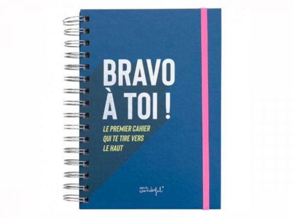 """Acheter Cahier à spirales """"Bravo à toi !""""- Mr Wonderful - 12,89€ en ligne sur La Petite Epicerie - 100% Loisirs créatifs"""