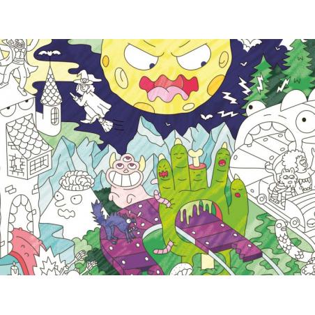 Acheter Poster géant en papier à colorier - ZOMBIES - 9,99€ en ligne sur La Petite Epicerie - 100% Loisirs créatifs