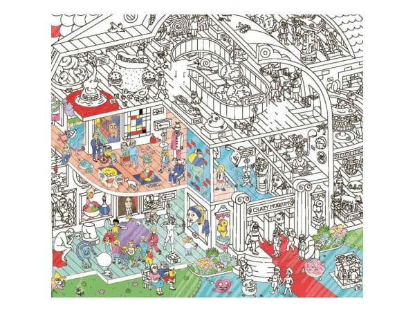 Acheter Poster géant en papier à colorier - CRAZY MUSEUM - 9,99€ en ligne sur La Petite Epicerie - Loisirs créatifs