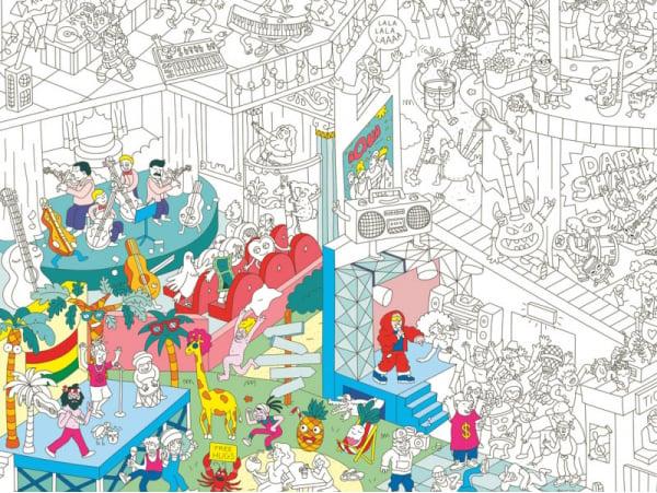 Acheter Poster géant en papier à colorier - MUSIC - 9,99€ en ligne sur La Petite Epicerie - 100% Loisirs créatifs