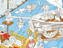 Acheter Poster géant en papier à colorier - PIRATES - 9,99€ en ligne sur La Petite Epicerie - Loisirs créatifs