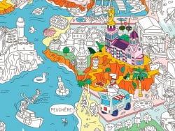 Acheter Poster géant en papier à colorier - MARSEILLE - 9,99€ en ligne sur La Petite Epicerie - Loisirs créatifs