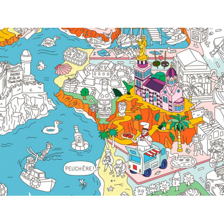 Acheter Poster géant en papier à colorier - MARSEILLE - 9,99€ en ligne sur La Petite Epicerie - 100% Loisirs créatifs