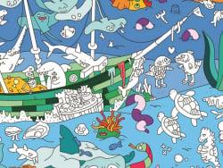 Acheter Poster géant en papier à colorier - OCEAN - 9,99€ en ligne sur La Petite Epicerie - Loisirs créatifs
