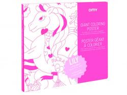 Acheter Poster géant en papier à colorier - LILY UNICORN - 11,90€ en ligne sur La Petite Epicerie - Loisirs créatifs