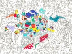 Acheter Poster géant en papier à colorier - KIDS LIFE - 9,99€ en ligne sur La Petite Epicerie - Loisirs créatifs