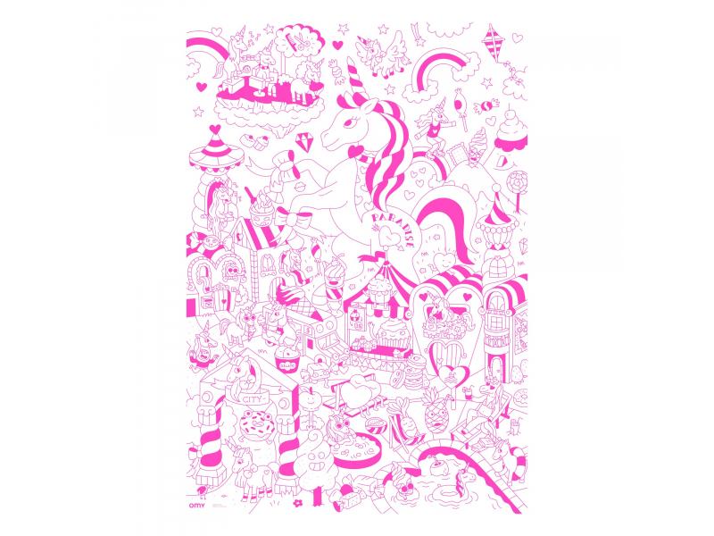 Acheter Poster géant en papier à colorier - LILY UNICORN - 9,99€ en ligne sur La Petite Epicerie - 100% Loisirs créatifs
