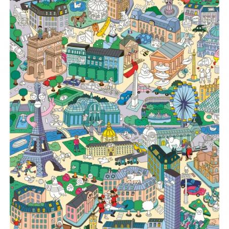 Acheter Poster géant en papier à colorier et stickers - PARIS - 15,99€ en ligne sur La Petite Epicerie - 100% Loisirs créatifs