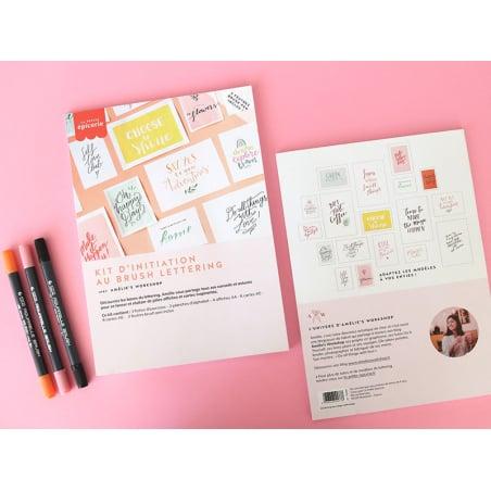 Acheter KIT LETTERING La petite épicerie - rose/orange - 14,99€ en ligne sur La Petite Epicerie - 100% Loisirs créatifs