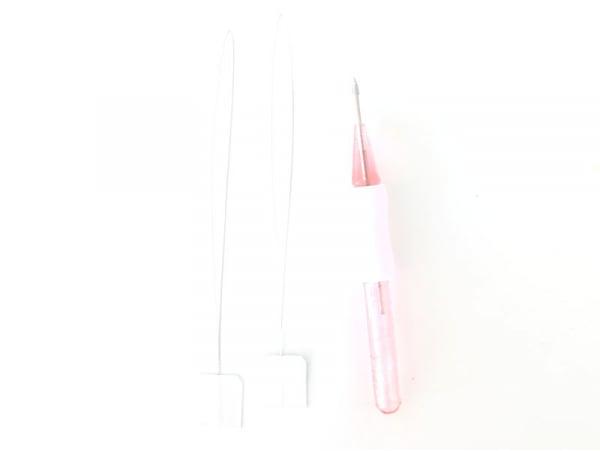 Acheter Punch needle / aiguille magique pour broderie facile - rose et blanc - 4,49€ en ligne sur La Petite Epicerie - 100% ...