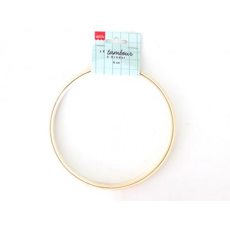 Acheter Tambour à broder bois clair - 15 cm - 4,99€ en ligne sur La Petite Epicerie - Loisirs créatifs