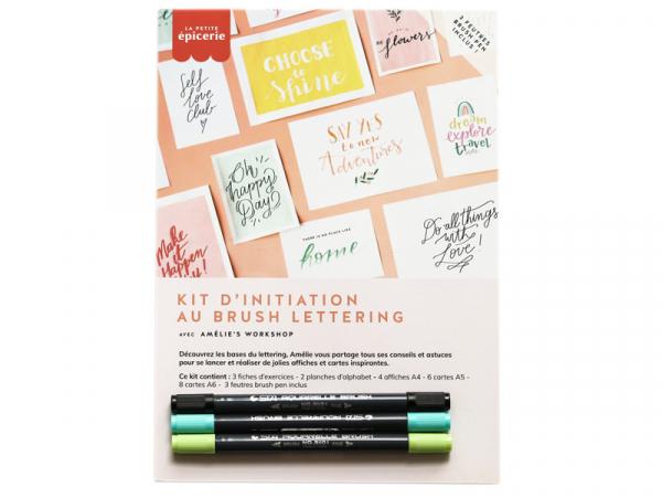 Acheter KIT LETTERING La petite épicerie - vert/bleu - 14,99€ en ligne sur La Petite Epicerie - Loisirs créatifs