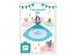 Acheter 8 Cartes d'invitation anniversaire Fées - FSC MIX - 5,99€ en ligne sur La Petite Epicerie - Loisirs créatifs