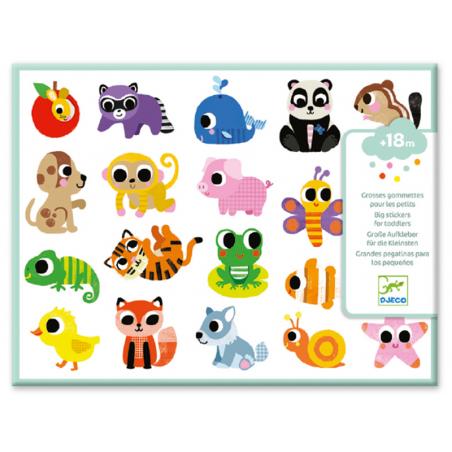 Acheter Grosses gommettes échenillées pour les tout petits - Bébés animaux - 5,29€ en ligne sur La Petite Epicerie - Loisirs...