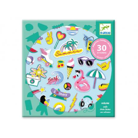 Acheter Stickers à texture - California - 4,49€ en ligne sur La Petite Epicerie - 100% Loisirs créatifs