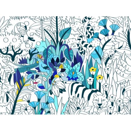 Acheter Poster XXL en papier à colorier - TROPICAL - 21,99€ en ligne sur La Petite Epicerie - Loisirs créatifs