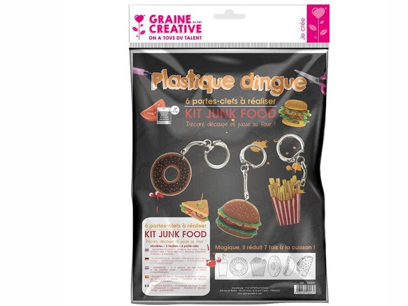 Acheter Kit plastique dingue porte clés junk food - 6,49€ en ligne sur La Petite Epicerie - 100% Loisirs créatifs